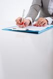 Checking contract Stock Images