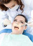 Checking the dentes up Stock Images