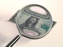 Checking a dollar vector illustration