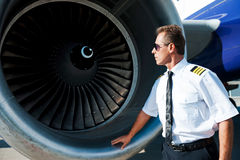Checking the engine. Stock Images
