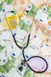 Checking Euros Royalty Free Stock Photo