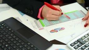 Checking Financial Data stock video