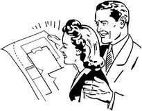 Checking Floorplans Stock Image