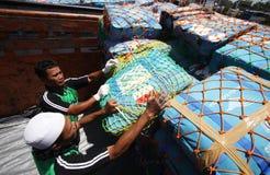 Checking hajj bags Royalty Free Stock Photo