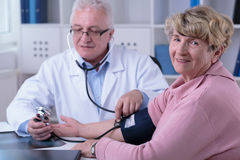 Checking the hypertension stock photos