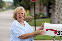 Checking the mail 04 Stock Photography