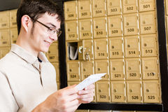 Checking mail Stock Images