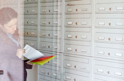 Checking Mailbox Stock Photography