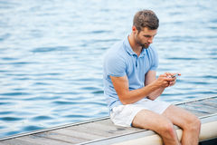 Checking messages from friends. Royalty Free Stock Photo