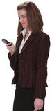 Checking the mobile phone Stock Photos