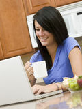 Checking Morning E-mails Stock Photo