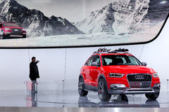 Checking Out the Audi Q3 Vail Stock Photography