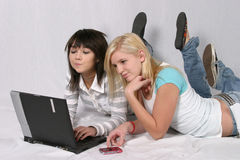Checking Out the Internet Stock Image