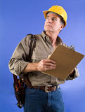 Checking Out the Job Stock Image