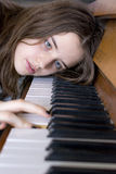 Checking piano Stock Images