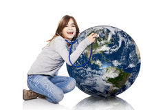 Checking the planet health Royalty Free Stock Image
