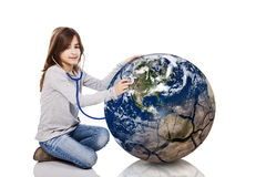 Checking the planet health Royalty Free Stock Photo