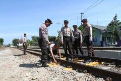 Checking railways Royalty Free Stock Photography