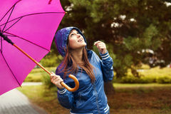 Checking for rain Royalty Free Stock Images
