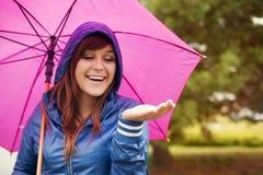 Checking for rain Royalty Free Stock Photos