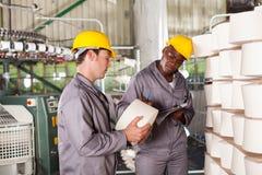 Checking raw material Stock Photos