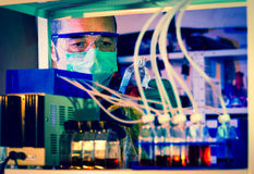 Checking rise Cell Culture installation. Cell Culture installation Royalty Free Stock Photo