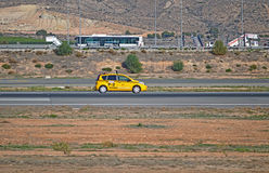 Checking The Runway With A Car Royalty Free Stock Images