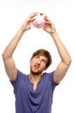 Checking savings Royalty Free Stock Photos