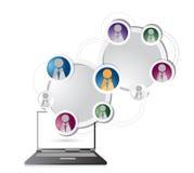 Checking social network circle colorloop business Royalty Free Stock Image