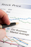 Checking the Stock Price Stock Photos