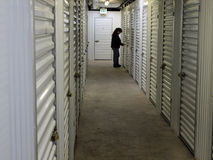 Checking Storage Unit royalty free stock images