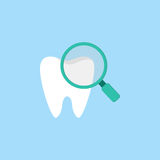 Checking teeth flat icon Stock Image