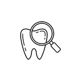 Checking teeth line icon Royalty Free Stock Photos