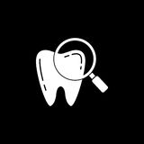 Checking teeth solid icon Royalty Free Stock Image