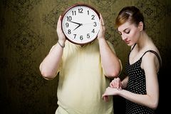 Checking time Royalty Free Stock Photos