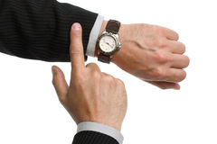 Checking the time Stock Images