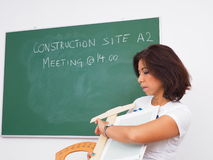 Checking time for site meeting royalty free stock photography