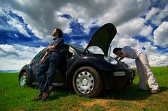 Free Checking Under The Hood Royalty Free Stock Images - 1420909