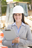 Checking up on construction Stock Images