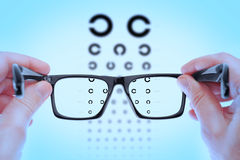 Checking vision on the table Golovin. Stock Images