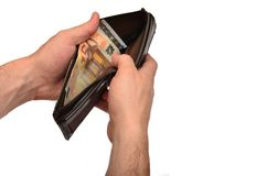 Checking Wallet Stock Photo