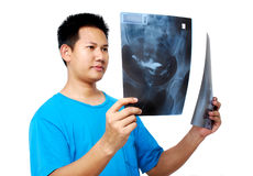 Checking Xray film Stock Images