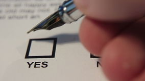 Checking Yes On Document stock video