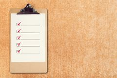 checklist obraz royalty free