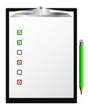 Checklist. Vector checklist with pensil on white Stock Photos