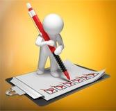 checklist stock de ilustración