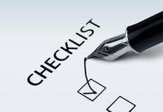 checklist obrazy stock