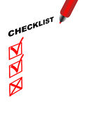 Checklist Royalty Free Stock Photos