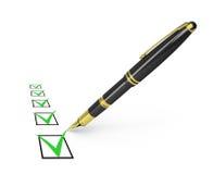 Checklist Stock Image