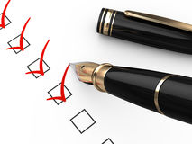Checklist. On white - 3d render Stock Photography